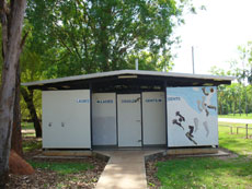 The Batchelor Public Toilet is situated behind the Batchelor General Store