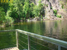 Wangi Falls boardwalk and viewing platform