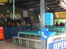 Food  and drinks avaiable to buy at Wangi Falls Kiosk